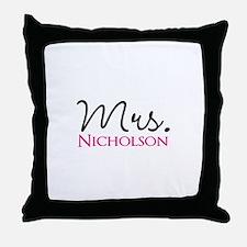 Customizable Mr and Mrs set - Mrs Throw Pillow