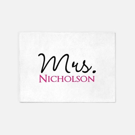 Customizable Mr and Mrs set - Mrs 5'x7'Area Rug