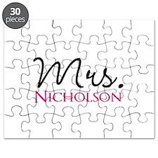 Customizable Mr and Mrs set - Mrs Puzzle