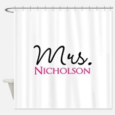 Customizable Mr and Mrs set - Mrs Shower Curtain