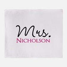 Customizable Mr and Mrs set - Mrs Throw Blanket