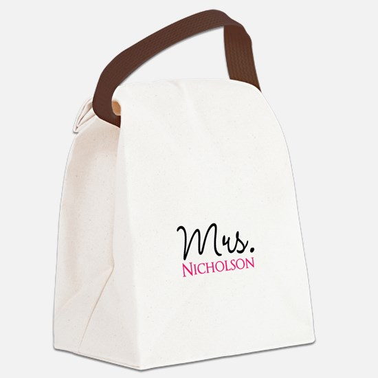 Customizable Mr and Mrs set - Mrs Canvas Lunch Bag