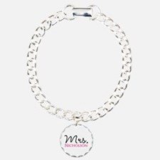 Customizable Mr and Mrs set - Mrs Bracelet