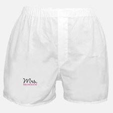 Customizable Mr and Mrs set - Mrs Boxer Shorts