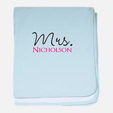 Customizable Mr and Mrs set - Mrs baby blanket