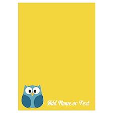 Cute Owl Name Yellow Invitations