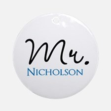Customizable Mr and Mrs set - Mr Ornament (Round)