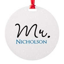 Customizable Mr and Mrs set - Mr Ornament