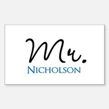 Customizable Mr and Mrs set - Mr Decal