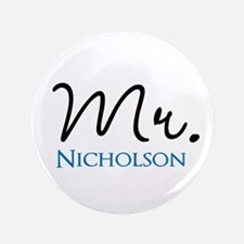 "Customizable Mr and Mrs set - Mr 3.5"" Button"