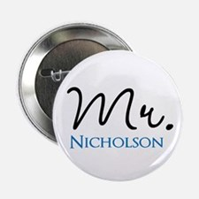 """Customizable Mr and Mrs set - Mr 2.25"""" Button"""