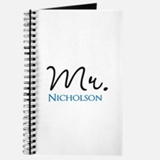 Customizable Mr and Mrs set - Mr Journal