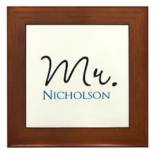 Customizable Mr and Mrs set - Mr Framed Tile