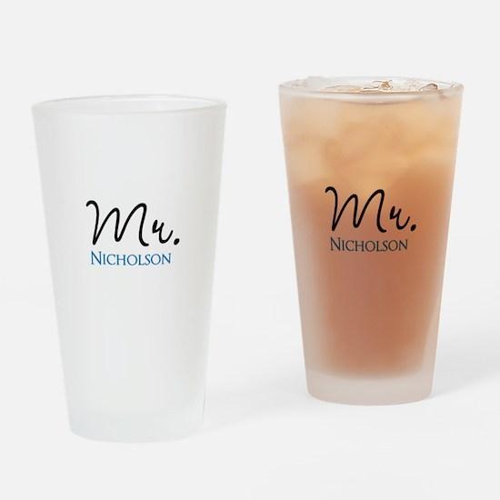 Customizable Mr and Mrs set - Mr Drinking Glass