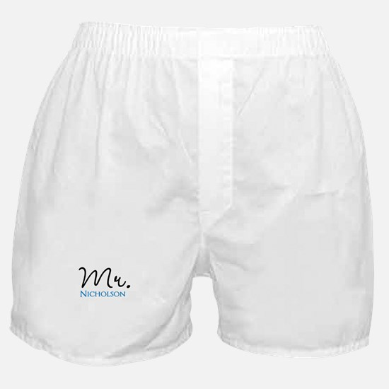 Customizable Mr and Mrs set - Mr Boxer Shorts