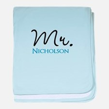 Customizable Mr and Mrs set - Mr baby blanket