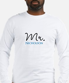 Customizable Mr and Mrs set - Mr Long Sleeve T-Shi