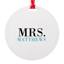 Custom name Mr and Mrs set - Mrs Ornament