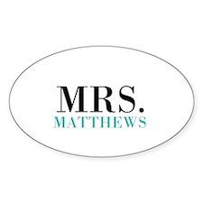 Custom name Mr and Mrs set - Mrs Decal