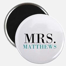 Custom name Mr and Mrs set - Mrs Magnets