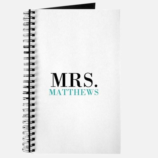 Custom name Mr and Mrs set - Mrs Journal