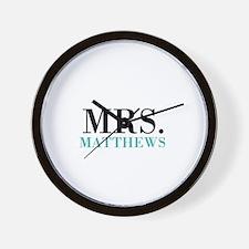 Custom name Mr and Mrs set - Mrs Wall Clock