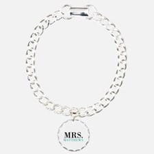 Custom name Mr and Mrs set - Mrs Charm Bracelet, O