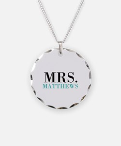 Custom name Mr and Mrs set - Mrs Necklace