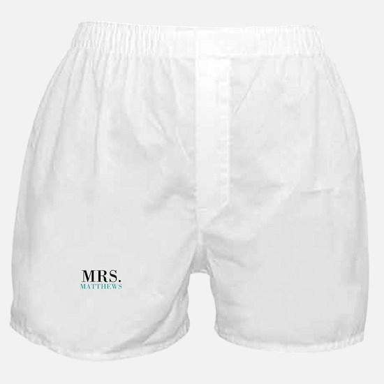 Custom name Mr and Mrs set - Mrs Boxer Shorts