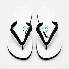 Custom name Mr and Mrs set - Mrs Flip Flops