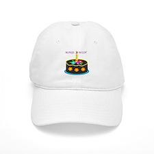 MAKE A WISH HAPPY BIRTHDAY CAKE Baseball Baseball Cap