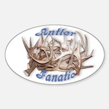 Antler Fanatic Oval Decal