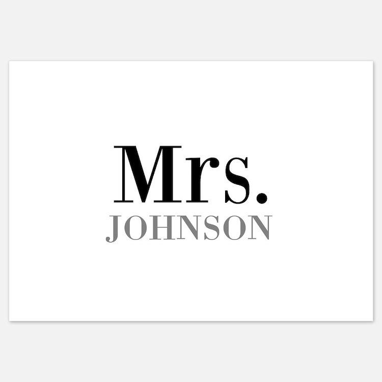 Customized Mr and Mrs set - Mrs Invitations
