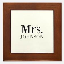Customized Mr and Mrs set - Mrs Framed Tile