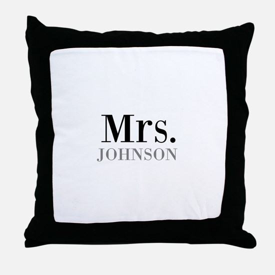 Customized Mr and Mrs set - Mrs Throw Pillow