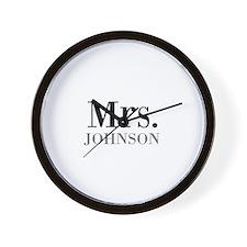 Customized Mr and Mrs set - Mrs Wall Clock