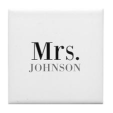 Customized Mr and Mrs set - Mrs Tile Coaster