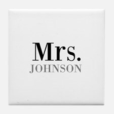 Customized Mr and Mrs set - Mrs Tile Coaster