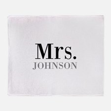 Customized Mr and Mrs set - Mrs Throw Blanket