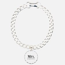 Customized Mr and Mrs set - Mrs Charm Bracelet, On
