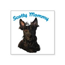 "Scotty Mommy (Black) Square Sticker 3"" x 3"""
