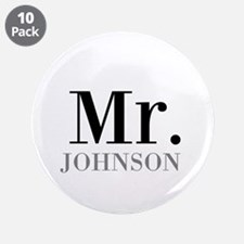 "Customized Mr and Mrs set - Mr 3.5"" Button (10 pac"