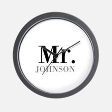 Customized Mr and Mrs set - Mr Wall Clock