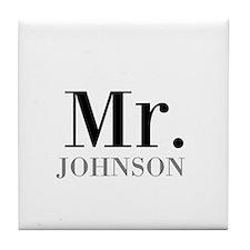 Customized Mr and Mrs set - Mr Tile Coaster