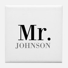 Customized Mr and Mrs set - Mr Tile Coaster