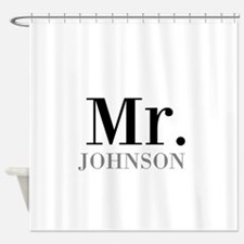 Customized Mr and Mrs set - Mr Shower Curtain