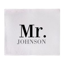 Customized Mr and Mrs set - Mr Throw Blanket