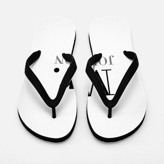 Customized Mr and Mrs set - Mr Flip Flops