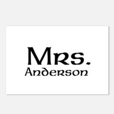 Personalized Mr and Mrs set - Mrs Postcards (Packa