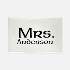 Personalized Mr and Mrs set - Mrs Magnets